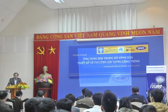 PGS.TS. Lê Anh Dũng - Phó Hiệu trưởng Trường Đại học Kiến trúc Hà Nội phát biểu tại Hội thảo