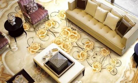 Nhà đẹp và tươi mới hơn nhờ gạch ốp tường phòng khách 3D