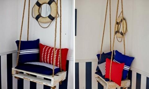 Những ý tưởng biến pallet gỗ thành đồ trang trí nội thất