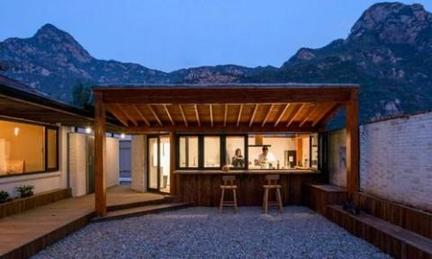 Quán trọ xây dựng bằng vật liệu tự nhiên tại Bắc Kinh