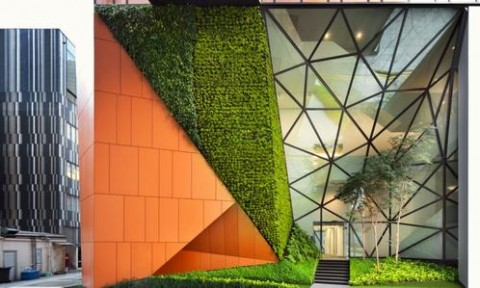 Không gian văn phòng xanh hiện đại tại Singapore