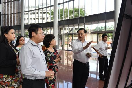 Không gian trưng bày triển lãm các phương án dự thi tại Tp Đà Nẵng