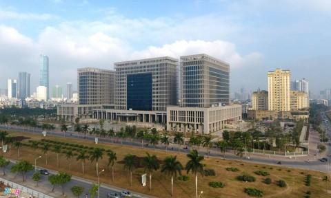 Trụ sở mới Bộ Ngoại giao hơn 4.000 tỷ đồng nhìn từ trên cao