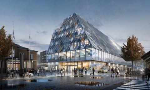 Thiết kế độc đáo biến nhà ga thành hội trường thành phố tại Thụy Điển