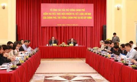 Bộ Xây dựng nỗ lực hoàn thành các nhiệm vụ Chính phủ giao