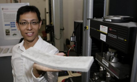 ĐH Nanyang phát minh bê tông có thể uốn cong