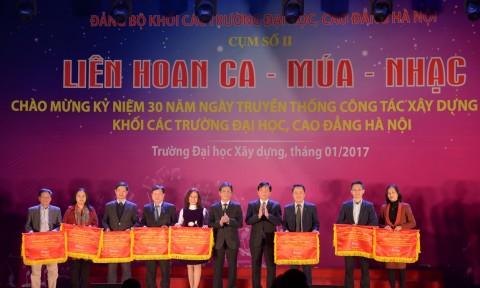 Trường Đại học Xây dựng đoạt giải Nhì tại Liên hoan Ca – Múa – Nhạc chào mừng kỷ niệm 30 năm ngày truyền thống công tác xây dựng Đảng khối các trường Đại học, Cao đẳng Hà Nội – cụm II