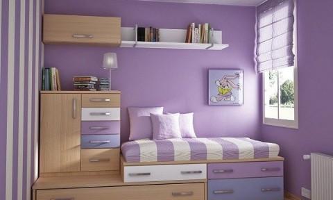 Cách bố trí phòng ngủ chật hẹp
