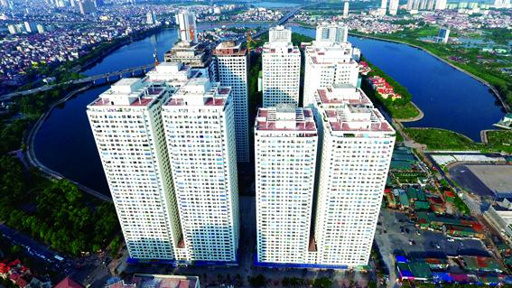 Xen cấy chung cư cao tầng HH với 12 khối nhà cao 40 tầng tại khu ĐTM linh Đàm, Hà Nội