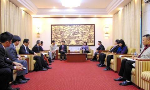 Thứ trưởng Phan Thị Mỹ Linh tiếp đoàn công tác của Cơ quan hợp tác quốc tế Nhật Bản