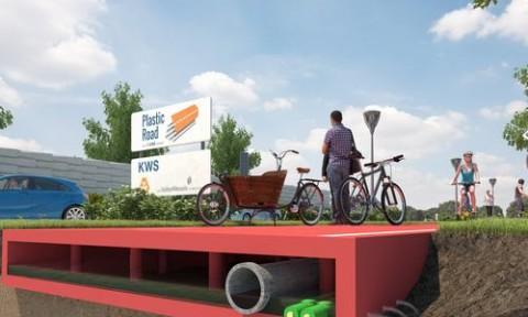 Công nghệ làm đường bằng vật liệu tái chế ở Hà Lan