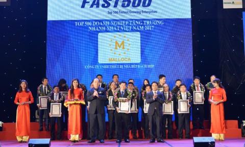 Thiết bị nhà bếp Malloca được vinh danh Top 100 sản phẩm Tin & Dùng – 2016 và Fast 500 – 2017