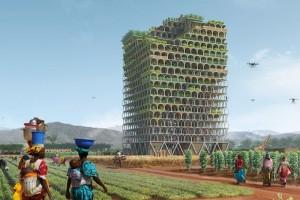 Thiết kế thắng Giải kiến trúc Tháp chọc trời eVolo 2017