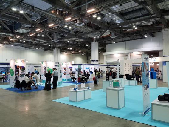Tổng thể không gian triển lãm Piscine Global Asia 2017 tại Singapore