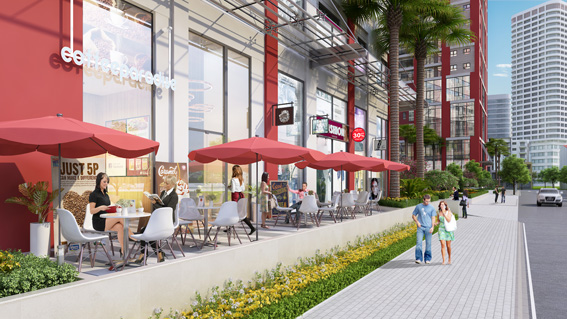 Nhiểu tiện ích tối đa cho cư dân: trung tâm thương mại,  khu vui chơi trẻ em, gym, coffee,...