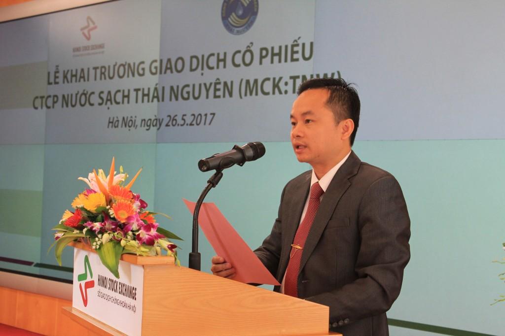 Ông Nguyễn Quang Mãi, Chủ tịch HĐQT Công ty cổ phần Nước sạch Thái Nguyên