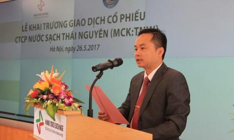 Công ty cổ phần Nước sạch Thái Nguyên niêm yết cổ phiếu