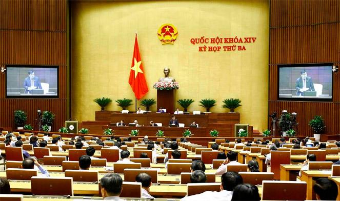 Toàn cảnh Ngày làm việc thứ 5 Kỳ họp thứ 3, QH Khóa XIVẢnh: Quang Khánh