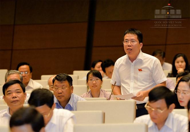 ĐBQH Nguyễn Văn Hiển phát biểu tại hội trườngNguồn: quochoi.vn