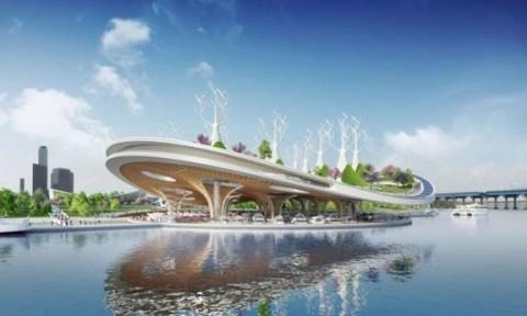 Bến thuyền khổng lồ làm sạch dòng sông ở Seoul