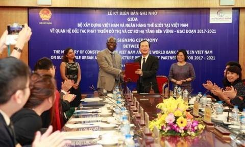 Bộ Xây dựng ký kết Biên bản ghi nhớ với Ngân hàng Thế giới