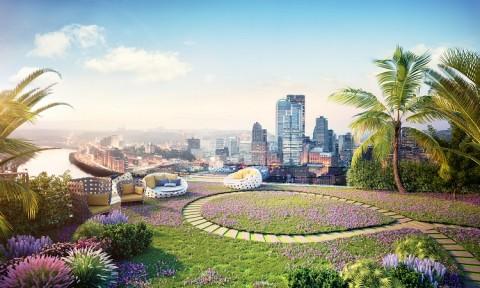 Khám phá tầng mái của dự án Imperia Sky Garden?
