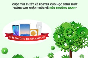 """Cuộc thi thiết kế poster """"Nâng cao nhận thức về môi trường"""""""