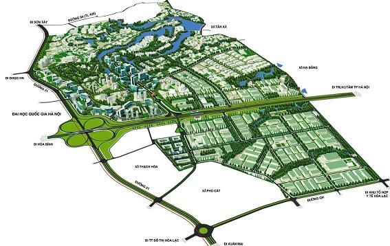 Phối cảnh Quy hoạch khu công nghệ cao Hòa Lạc (Hà Nội)