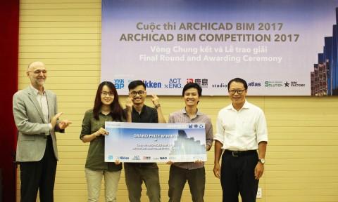 Sinh viên ĐH Kiến trúc TPHCM đạt giải Nhất cuộc thi ARCHICAD BIM 2017