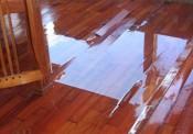 Nhà 5 tầng ở Hà Nội hỏng hết sàn gỗ chỉ vì phễu thu nước