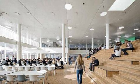 Ngôi trường ở Đan Mạch được bao phủ hoàn toàn bằng 12.000 tấm pin năng lượng mặt trời