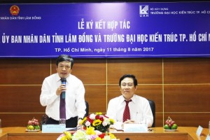 Trường Đại học Kiến trúc TP.HCM hợp tác với tỉnh Lâm Đồng