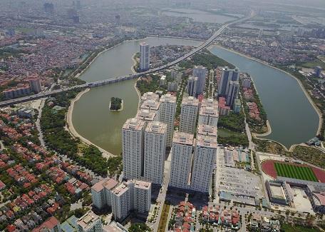 """Công trình chung cư cao tầng """"xây chen"""" làm phá vỡ cảnh quan tại KĐTM Linh Đàm (Hà Nội)"""