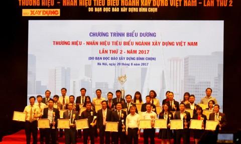 Vinh danh 100 Thương hiệu – Nhãn hiệu tiêu biểu ngành Xây dựng năm 2017
