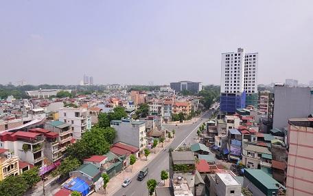 Tòa nhà 8B Lê Trực (Ba Đình, Hà Nội) xây sai phép bị xử phạt cắt ngọn
