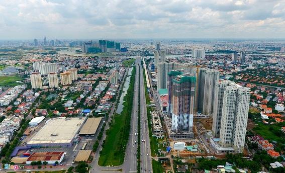 Phát triển khu đô thị mới theo quy hoạch tại khu vực Quận 2, TPHCM