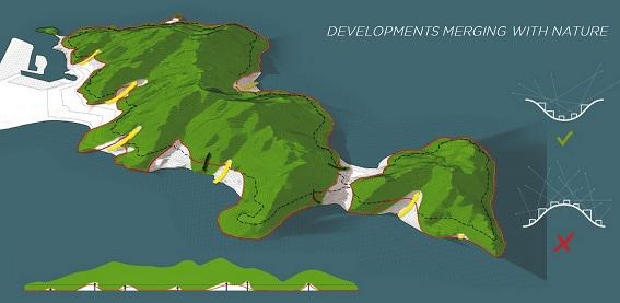 Bản đồ quy hoạch ranh giới khi vực phát triển và bảo tồn Đồ án QH 1/2000 bán đảo Sơn Trà, TP Đà Nẵng