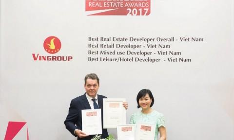 """Vingroup là """"Nhà phát triển bất động sản tốt nhất Việt Nam năm 2017"""""""