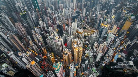 Một góc đô thị Hong Kong (Trung Quốc)
