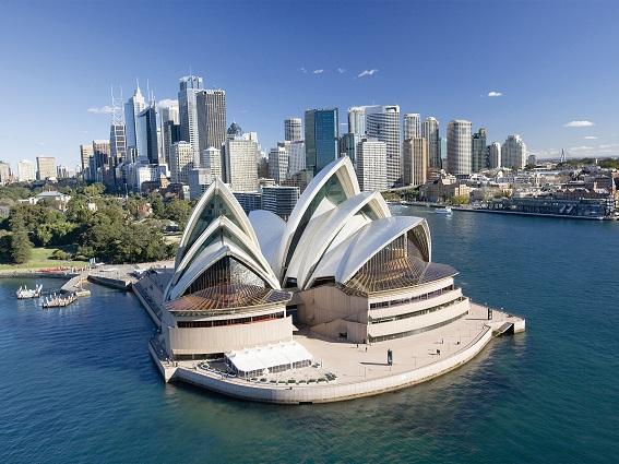 Trung tâm CBD với mật độ công trình cao tầng dầy đặc TP Sydney (Australia)