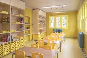 Màu sơn trường học tác động đến tâm trí trẻ nhỏ