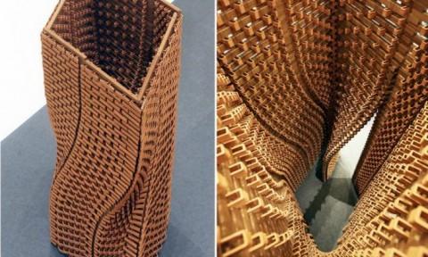 Tháp dạng xoắn được làm từ 2.000 viên gạch terracotta in bằng công nghệ 3D