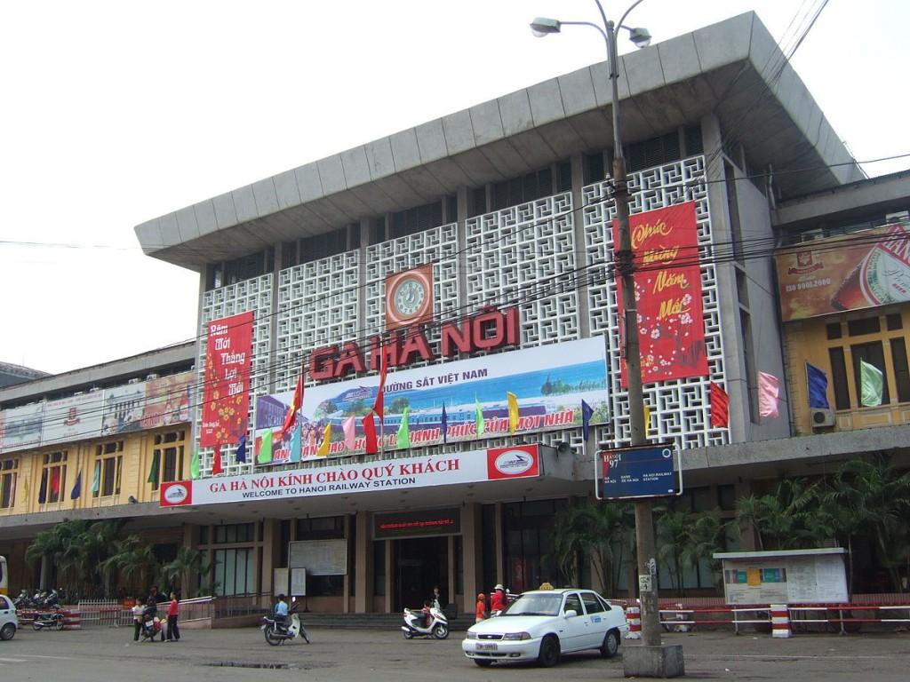Mặt tiền công trình ga Hà Nội hiện hữu