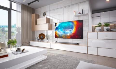 Phòng khách sang trọng và hiện đại trong căn hộ cao cấp