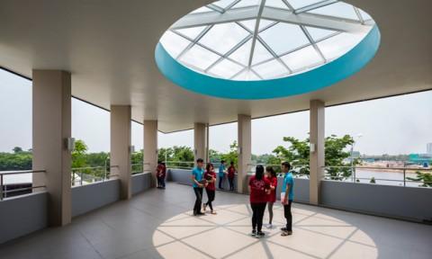 Kiến trúc độc đáo của trường Đại học Nhật Bản tại Việt Nam được ca ngợi