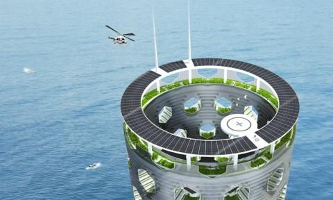 Solar Vertical City với kiến trúc khép kín của tương lai