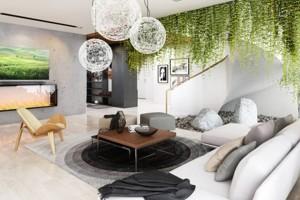 Không gian xanh trong phòng khách