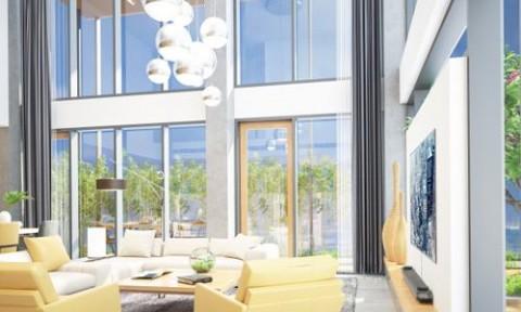 Thiết kế phòng khách căn penthouse ấm cúng