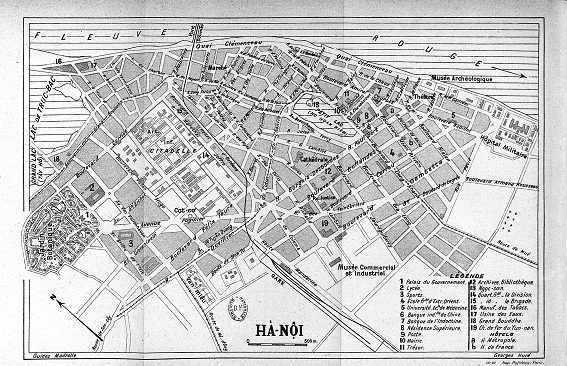 Quy hoạch khu trung tâm Hà Nội năm 1925 do Kts Ernest Hebra thực hiện
