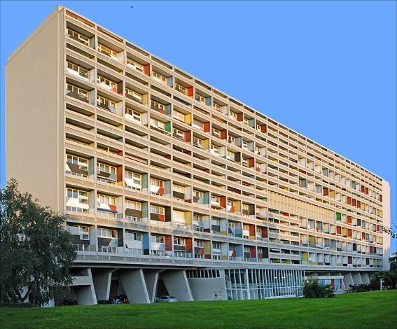 Chung cư cao tầng Unité d'Habitation (TP Marseille, Pháp) lần đầu được Kts Le Coocbusier thiết kế năm 1945